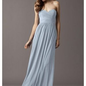 7e9744cf4428 Watters blue strapless bridesmaid gown size 6